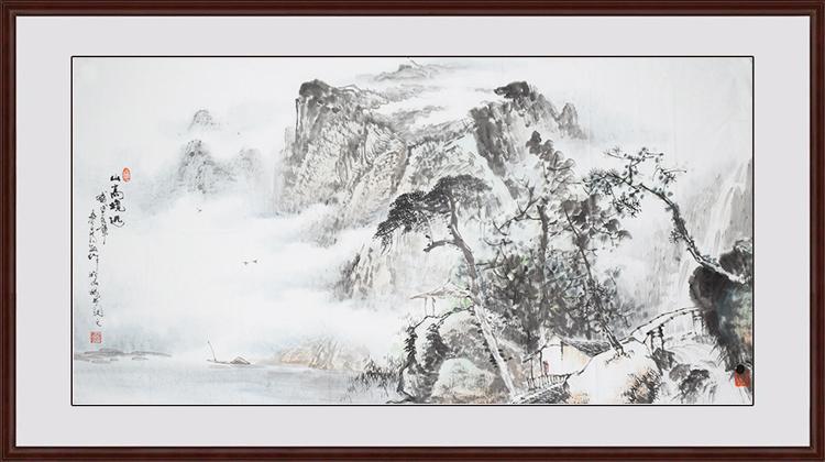 蒋敏现代画家写意四尺山水4k.jpg